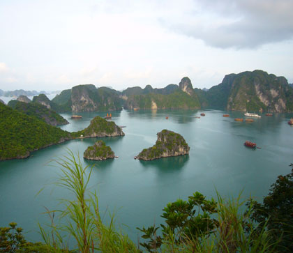 There are about 3000 islands in Halong Bay.  It was well worth the walk up this one.