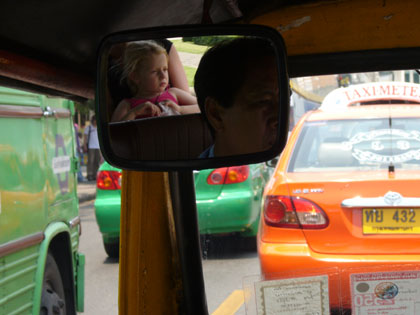 Our girls favourite mode of transport.  A tuk tuk does not feel 100% safe in the feisty Bangkok traffic but then neither do the taxis or busses.
